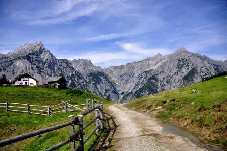 蒂罗尔,奥地利,山,旅游,4k(水平)